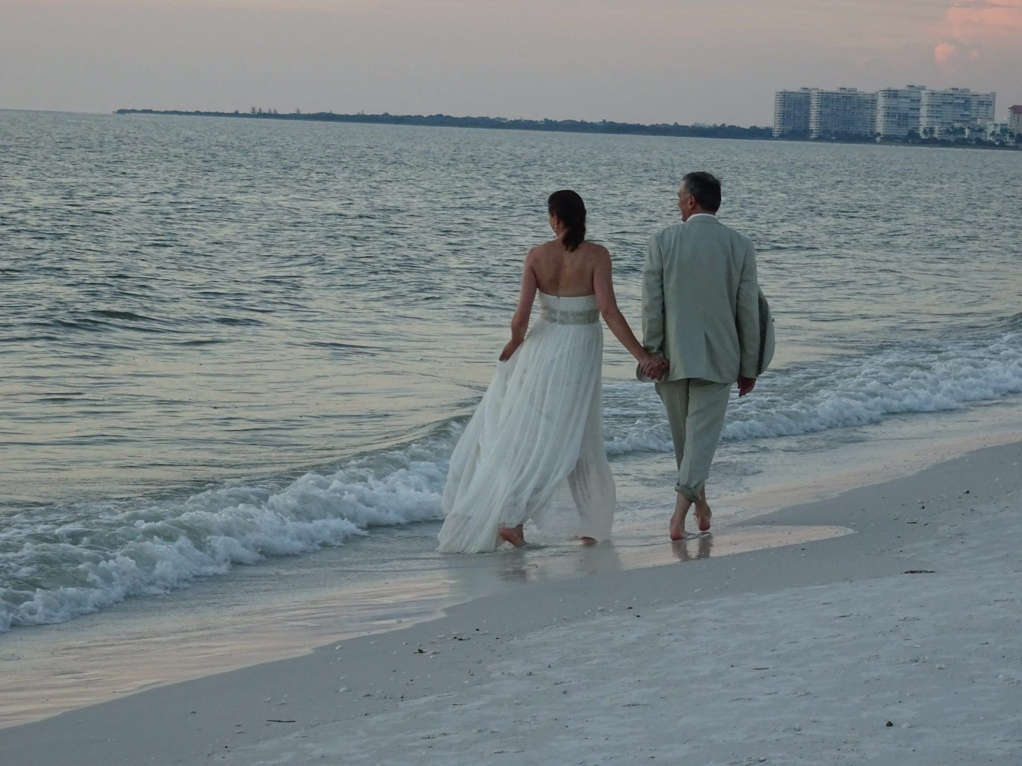 Marco Island is a great place for weddings on the beach. This is us back in October 2015